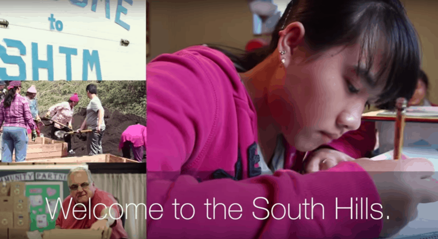 Welcome to the south hills video splash