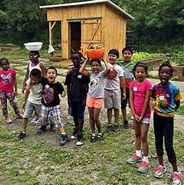 Kids at shack