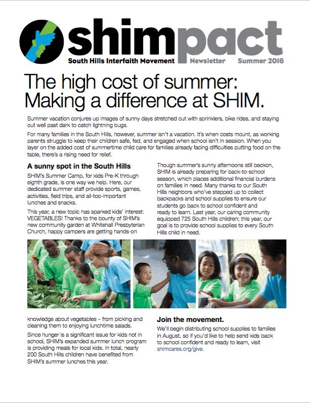 shimpact newsletter summer 2016