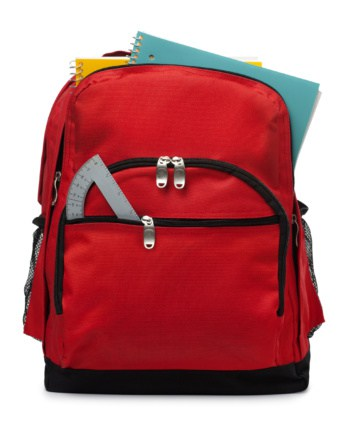 Backpack full of supplies