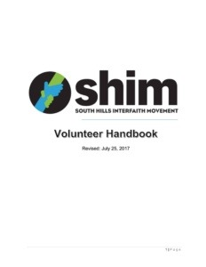 SHIM volunteer handbook