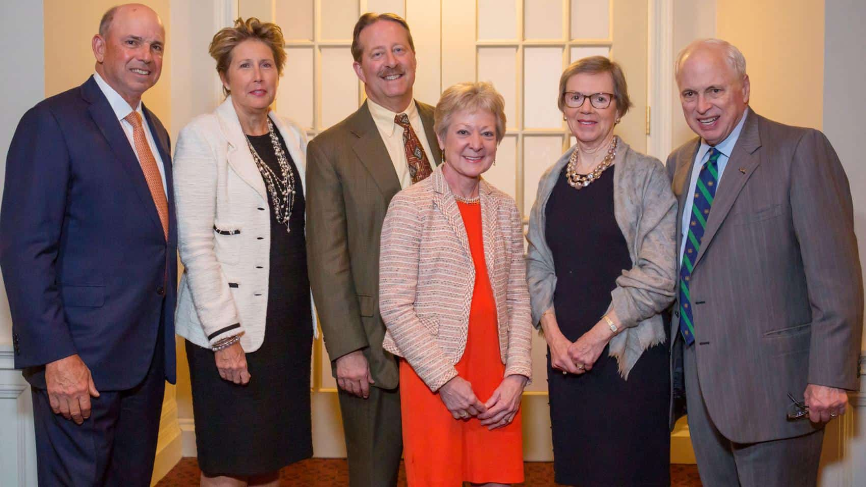 From left are John and Becky Surma, Curt and Kim Fleming, and Catharine and John T. Ryan III. Not pictured is Michael Ryan.