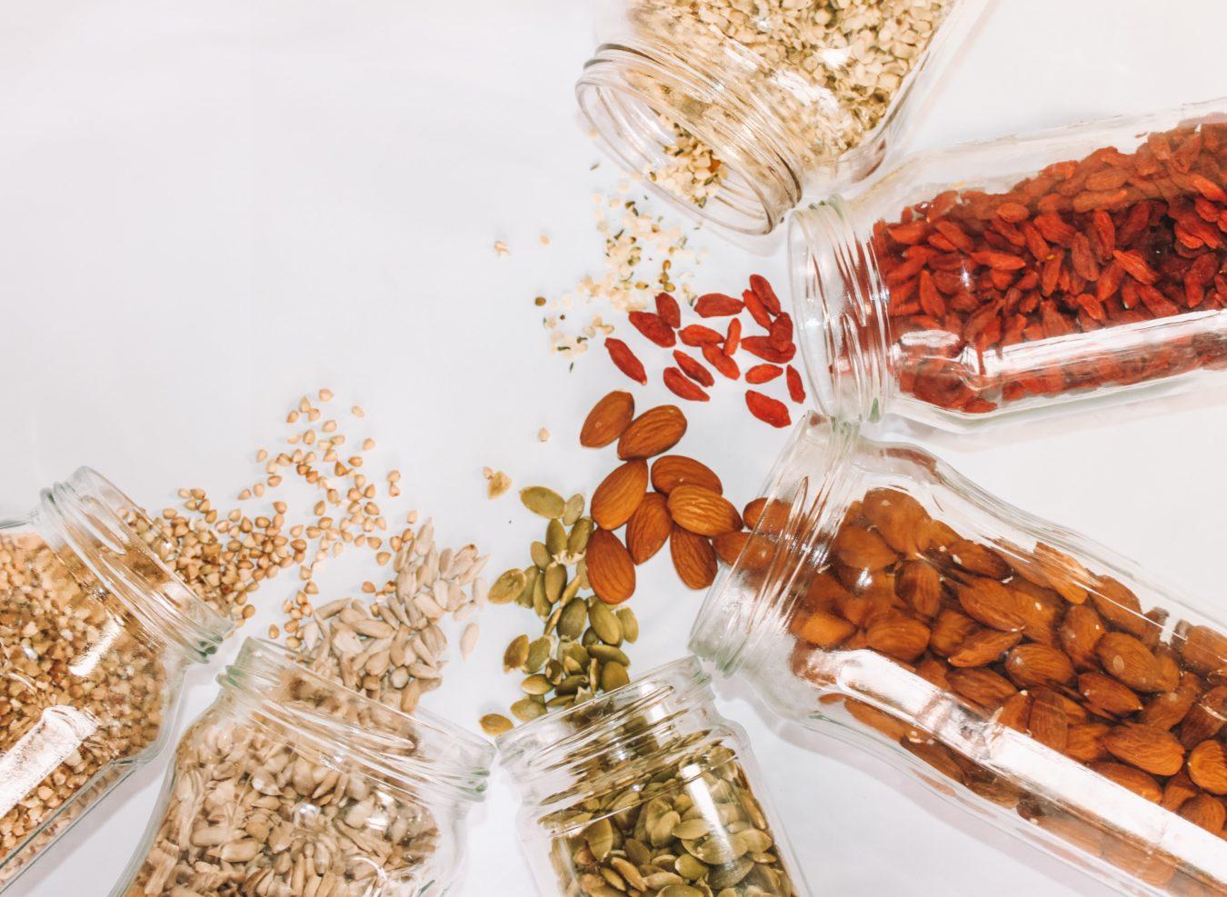Seeds in jars