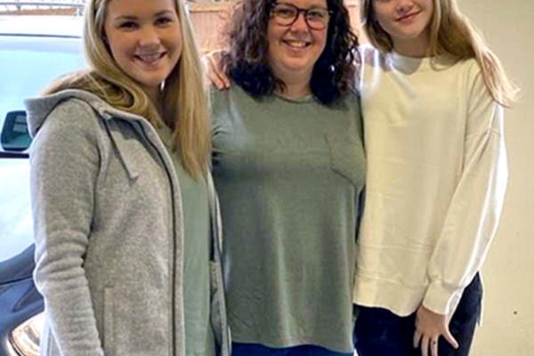 Allison Carey and her daughters Lauren and Amelia