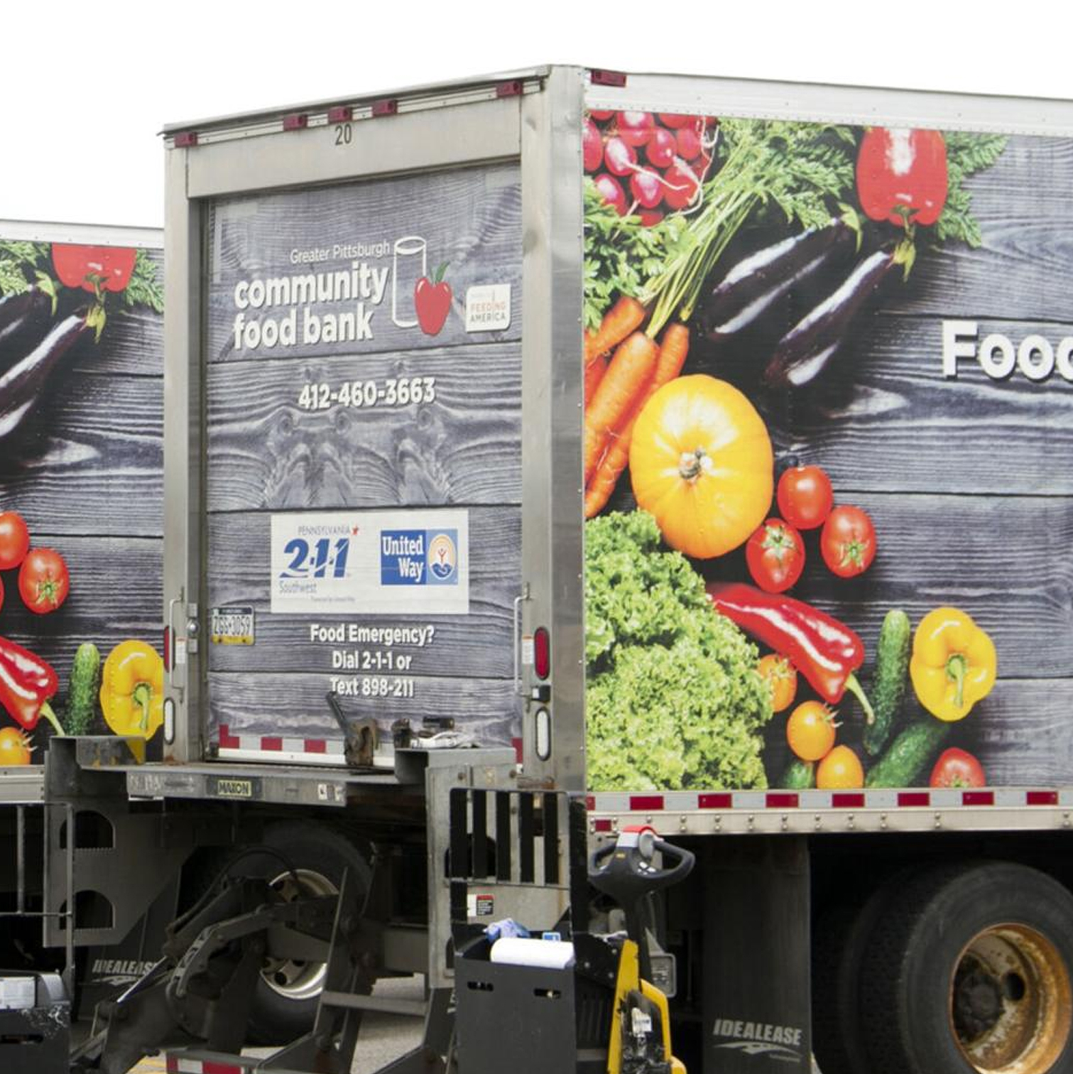 Pittsburgh Community Food Bank trucks