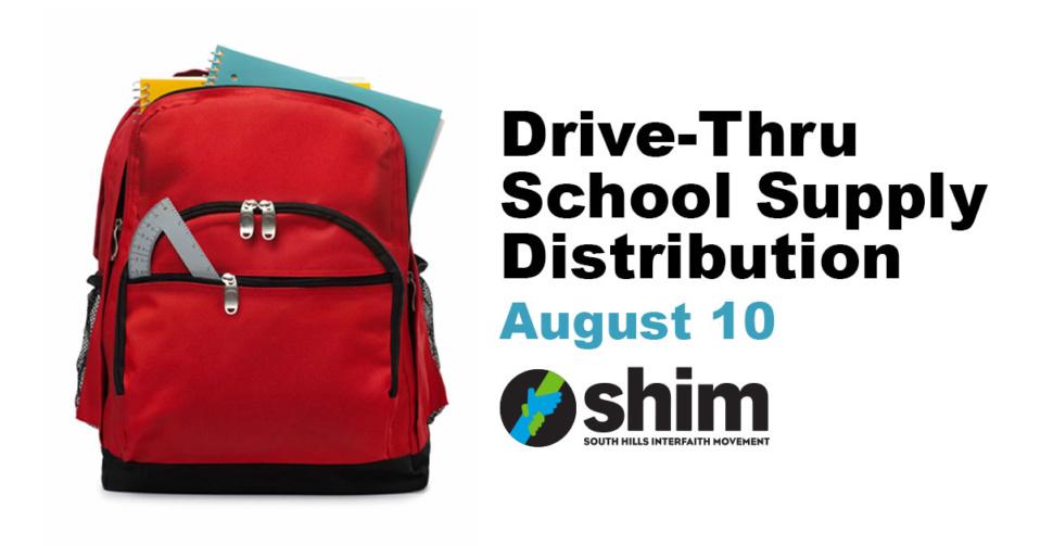 Drive-Thru School Supply Distribution