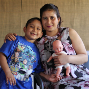 Mom and son