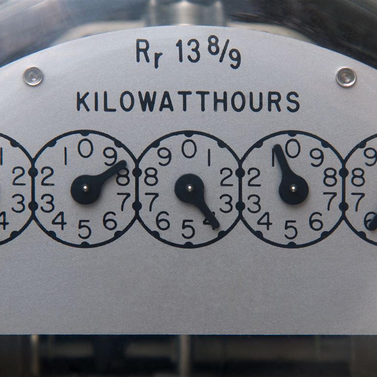 Kilowatthours power meter
