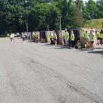 Volunteers at mass distribution