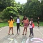 Girls with chalk